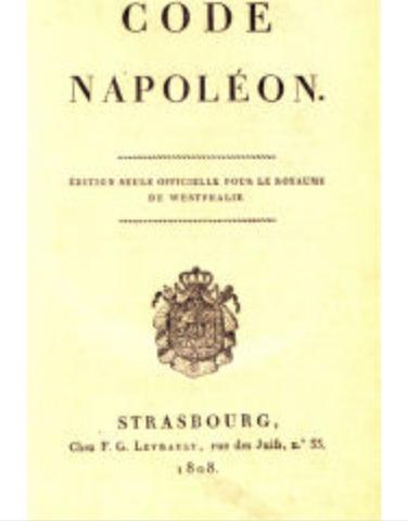 Napoleonic code promulgated