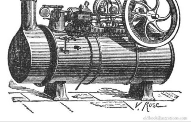 Steam engine invented
