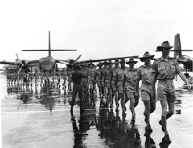 Australian Troops go into Vietnam