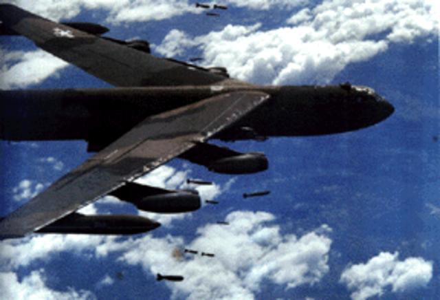 First B-52 Raids on North Vietnam