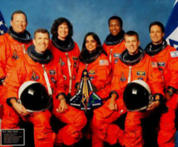 Death of all astronauts on Space Shuttle Columbia