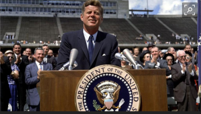 Kennedy challenges America: within a decade man on the moon
