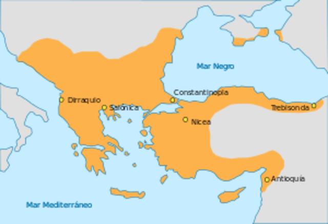 Empieza el declive del Imperio Bizantino.