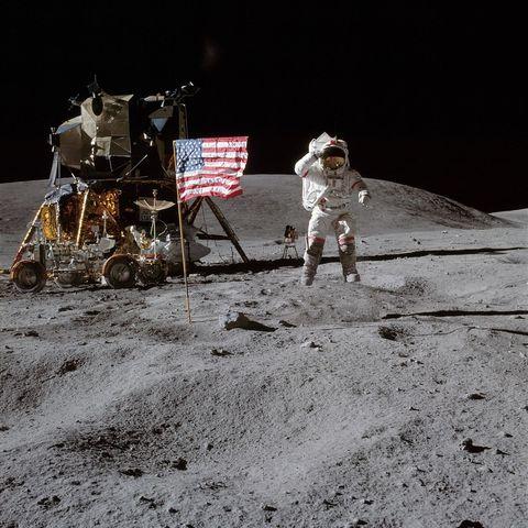 Neil Armstrong på månen