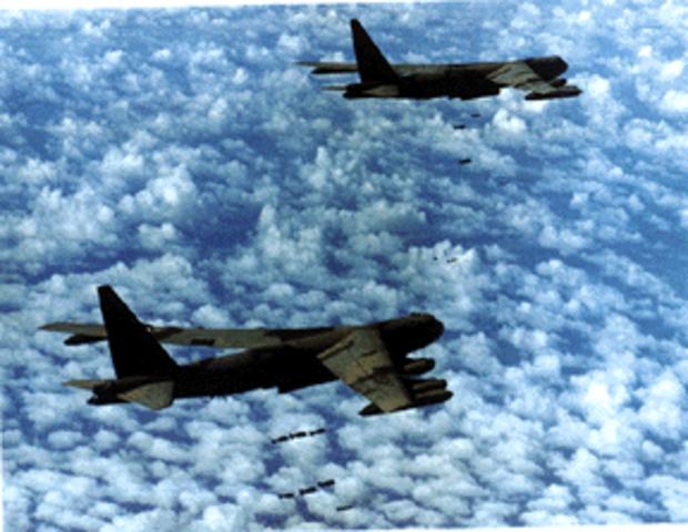 B-52 Raids Near Cambodian Border