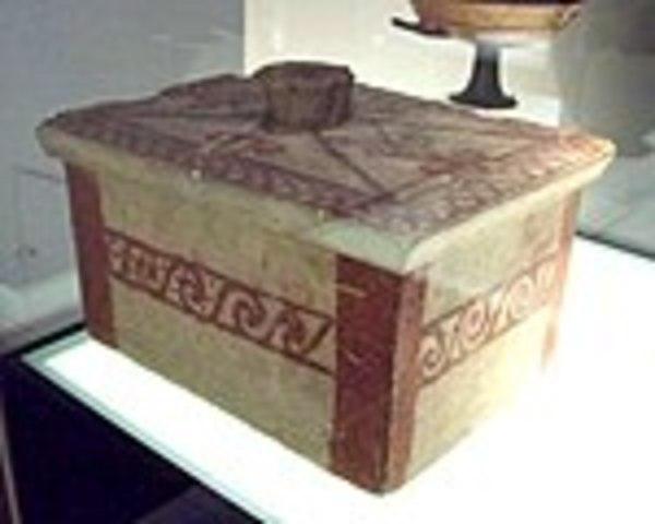 Cultura íbera (Caja funeraria ibera hallada en Galera.)