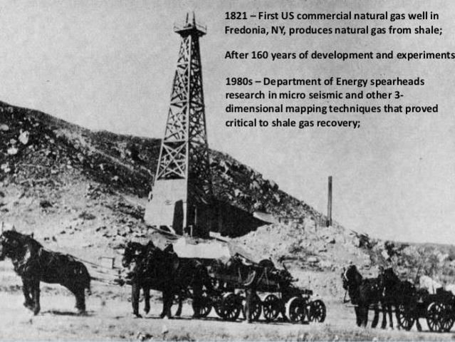 1821 - First Natural Gas Well in US Is Drilled