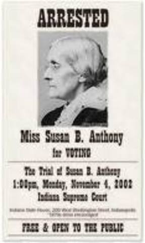Susan B. Anthony Arrested