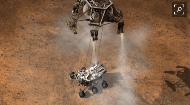 Curiosity rover landed on Mars