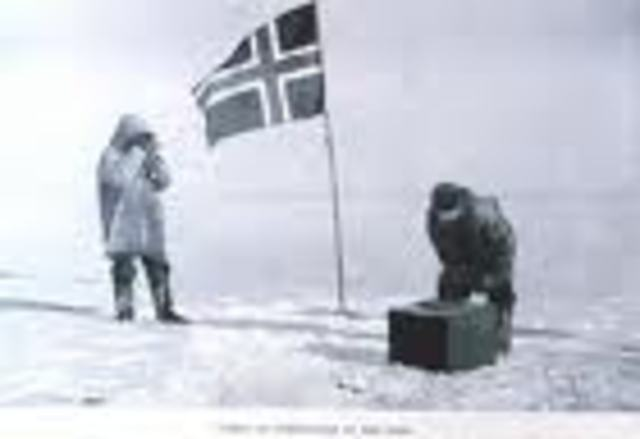 Amundsen reaches the south pole it was a glorios moment
