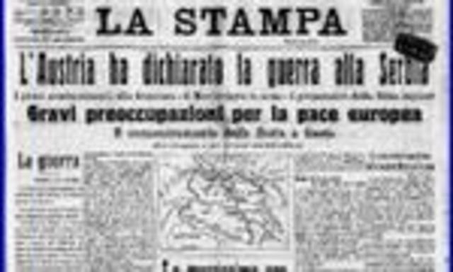 L'Autriche déclare la guerre à la Serbie