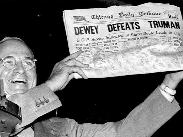 Chicago Tribune Declares the Wrong President