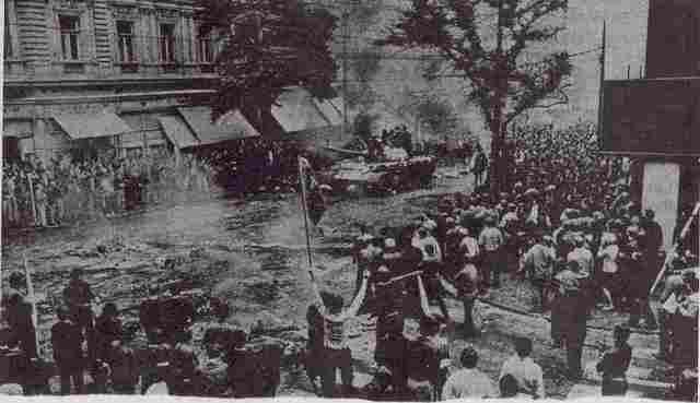 Kommunistene tok makten i Tsjekkoslovakia