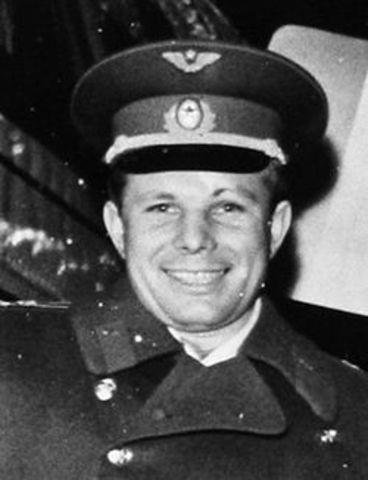 Gagarin som første menneske i rommet