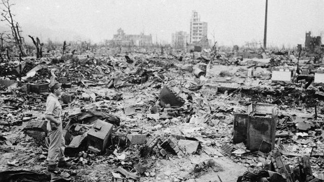 Atombombing over japan