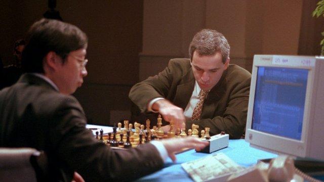 Duelo de ajedrez Gary Kasparov y el ordenador Deep Bloe