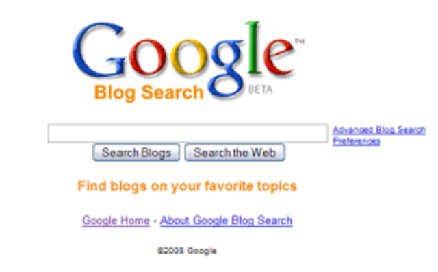 Nacimiento de Google Blogsearch