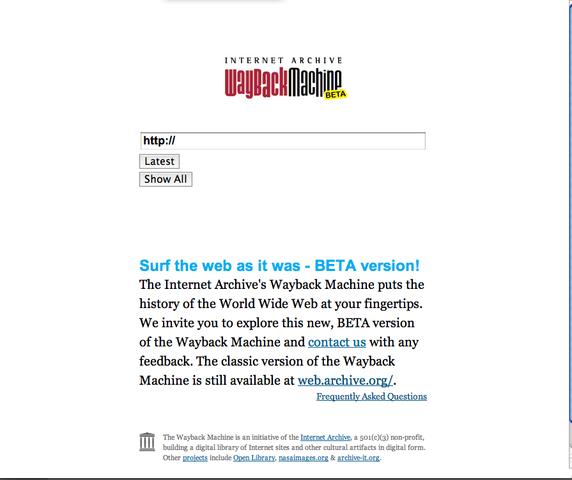 Creación del Archivo de Internet