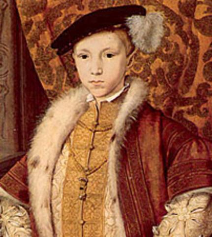 Edward VI becomes King
