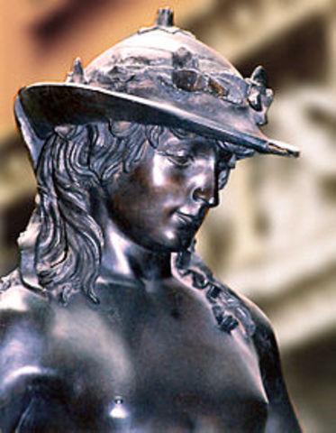 Donatello esculpe el David 1440