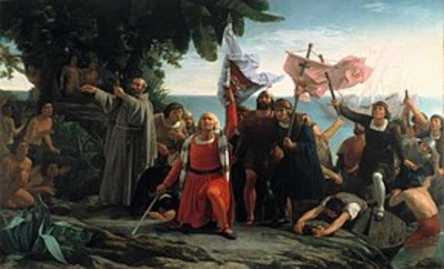 llegada de Colón a América.1492