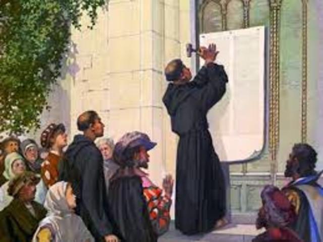 las 95 tesis de Lutero. 1517
