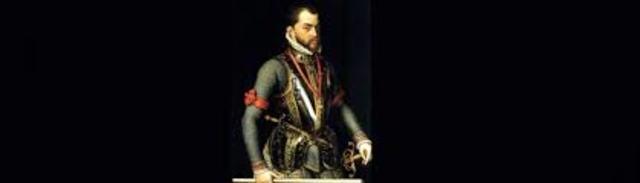 Inicio del reinado de Felipe II, rey de España 1556