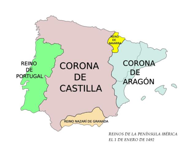 Inicio del reinado de los Reyes Católicos unión de Castilla y Aragón