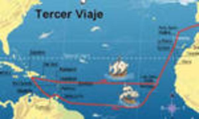 tercer viaje de Colón a América. 1498