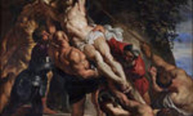 Rubens pinta el descendimiento de la cruz 1612