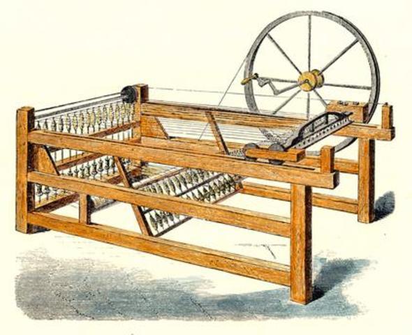 Invención de la máquina de hilar Spinning Jenny de Hergreaves
