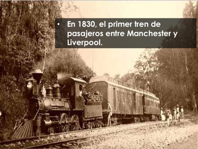 Construcción de la 1ª línea de pasajeros entre Liverpool y Manchester