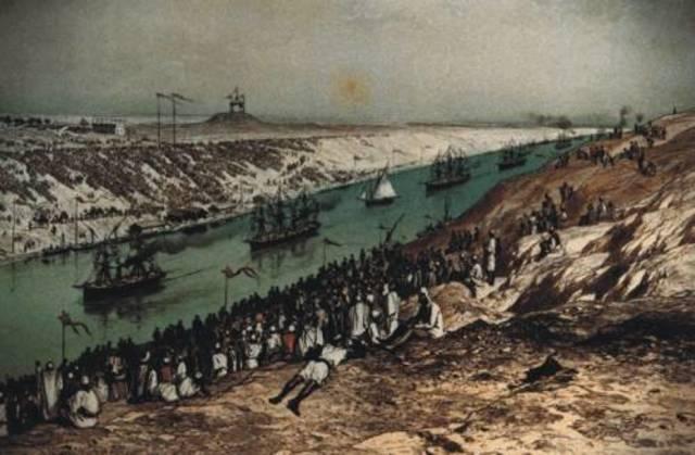 Inauguración del canal de Suez