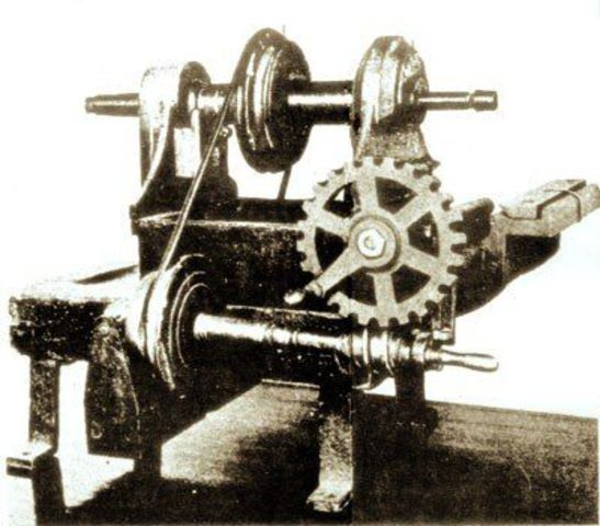 Invención de la laminadora para fabricar chapas de hierro