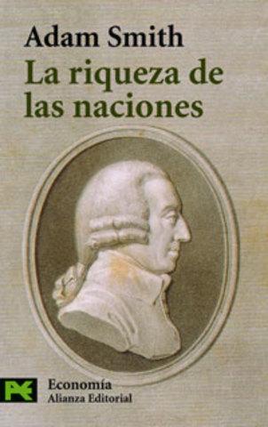 """Publicación de """"La riqueza de las naciones"""" de Adam Smith"""