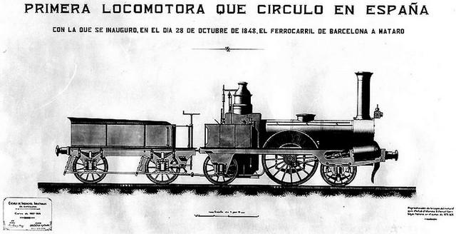 Primera línea de ferrocarril en España