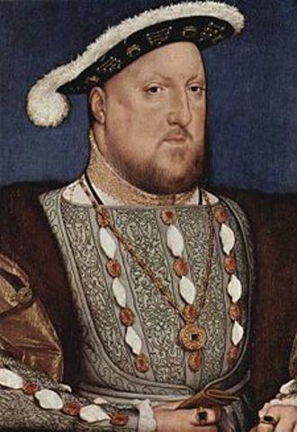 Con Enrique VIII se materializa la separación de Inglaterra de la Iglesia Católica:  anglicanismo
