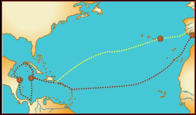 cuarto viaje de Colón a América.1502