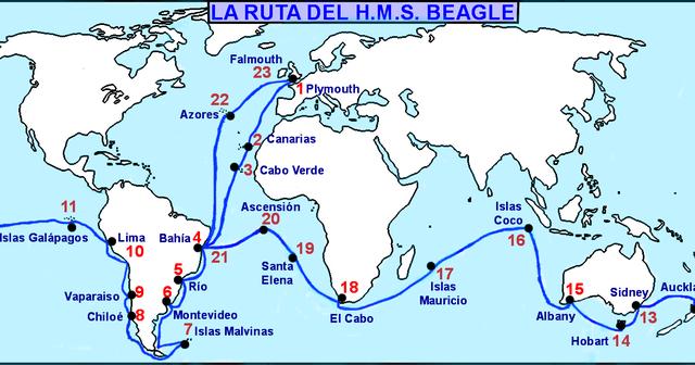 Salida del HMS Beagle
