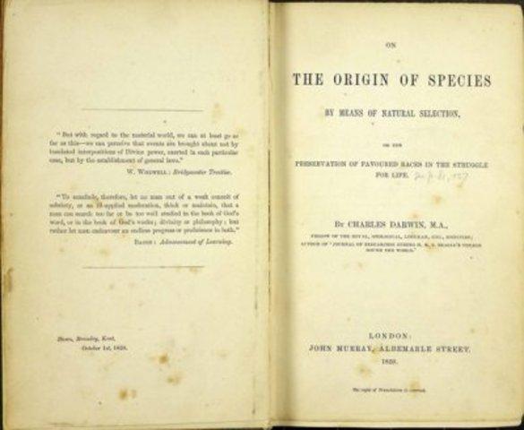 Libro: El origen de las especies mediante la selección natural o la conservación de las razas favorecidas en la lucha por la vida