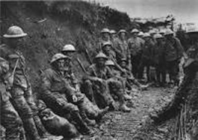 Første verdenskrig - Sluttet