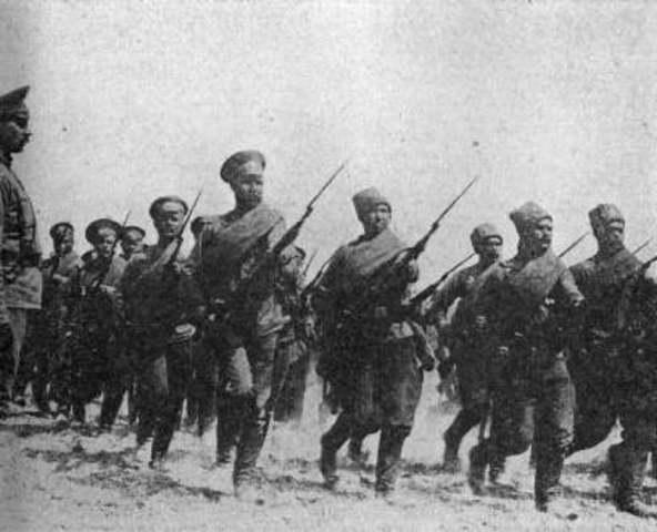 Rusia entra en la Primera Guerra Mundial