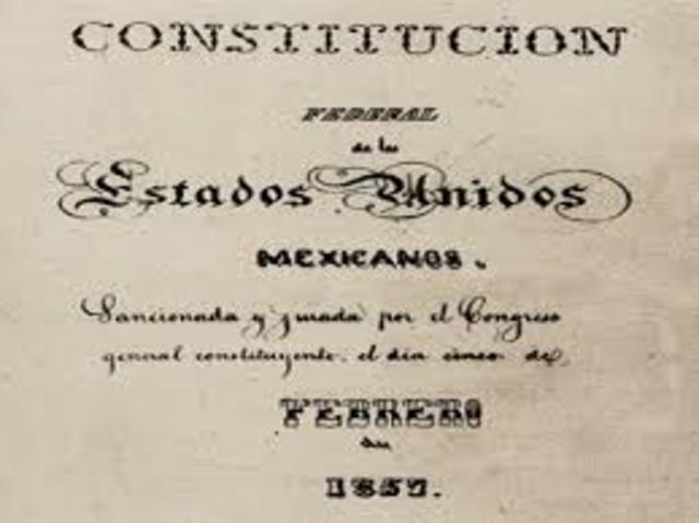 México, Constitución del 1857