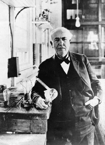 Thomas Edison ontwerpt de camera
