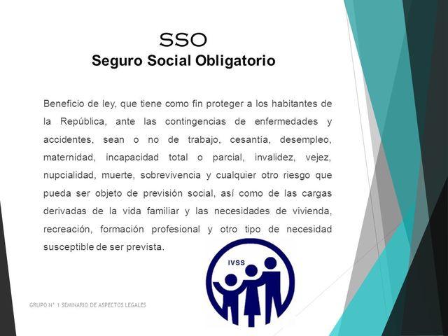 1944 la Ley del Seguro Social Obligatorio (S.S.O)