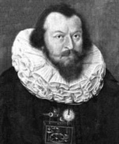 """Wilhelm Schickard (1592-1635), en Tuebingen, Wuerttemberg (ahora Alemania), Creó el """"Reloj Calculador""""."""