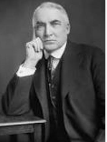 """Warren G. Harding's """"Return to Normalcy"""""""