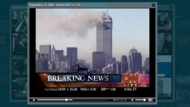 9/11 attacks are reported immediately through multimedia