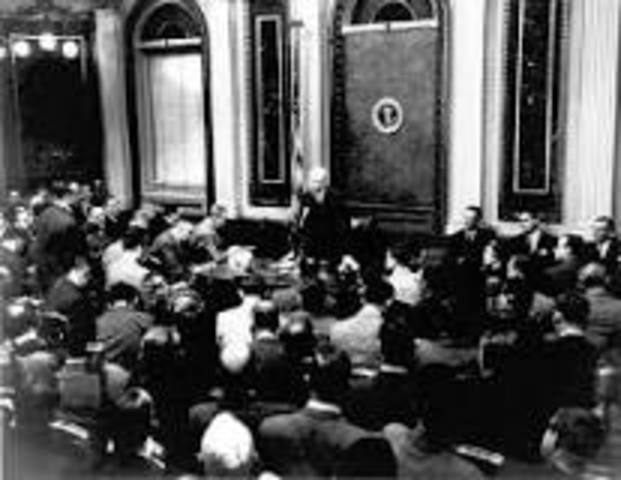 First Televised Presidential Press Conference