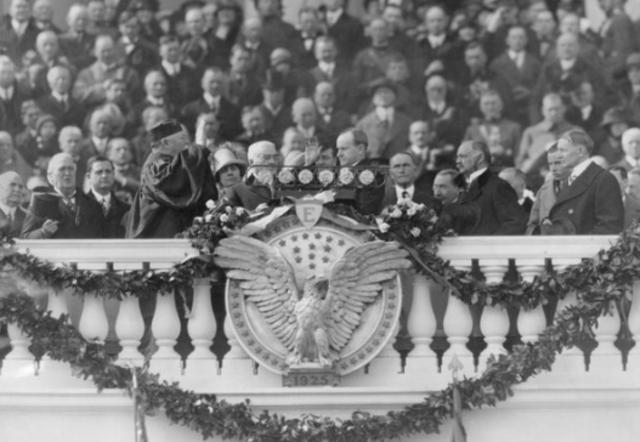 Calvin Coolidge's Inauguration, first on radio